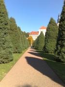 Ein trockner Weg im Garten